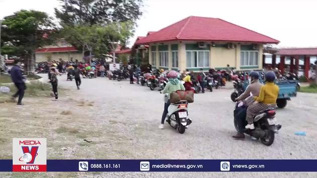 Ninh Thuận đón công dân trở về từ Đồng Nai